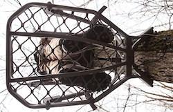 Oversized warbird climbing tree stand platform